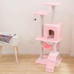 Os animais de estimação de sisal Cat Escalar Brinquedos Prateleiras Interativo Cat Tree interessante Peluches