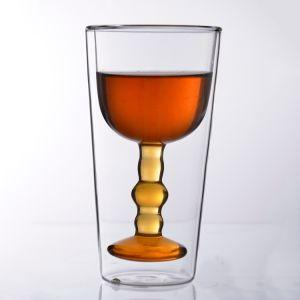 Colpo della tazza di caffè/tazza di vetro di vetro doppi di vetro del caffè espresso