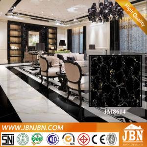 黒いホテル(JM8614)のための大理石によって艶をかけられる磨かれた磁器の床タイル