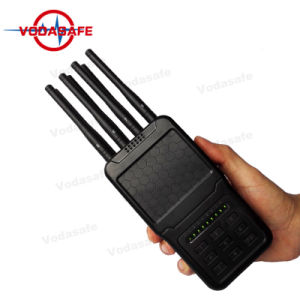 Volledige het 8-kanaal van de Hoge Macht Hanheld van de Stoorzender van de Zak van de Band Draagbare GSM CDMA van Cellphone 2g 3G 4G GPS van WiFi van het Signaal RadioStoorzender Lojack
