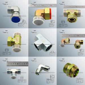 Parker de acero al carbono forjado la ejecución de pezón tubo flexible hidráulico (2C9R)