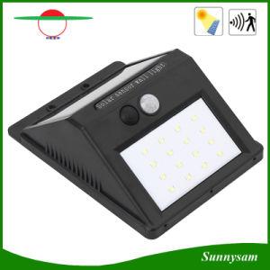 16LED屋外ランプの動きセンサー太陽ライトIP65 LED壁のパック350lmの機密保護夜ライト