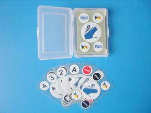 Baraja invisible - 100% de las tarjetas de plástico transparente personalizado.