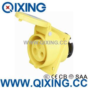 Cee/CEI IP44 32A 3p jaune encastrable Prise d'angle