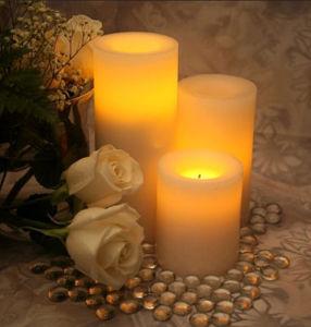 بطّاريّة [أبرت] يرفرف [لد] شمعة عديم لهب مع شمع حقيقيّة رخيصة