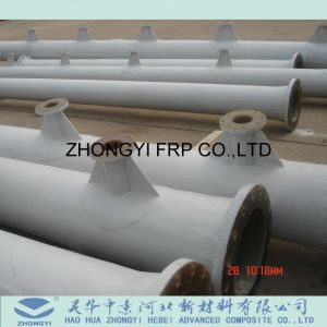 China fabricante de fibra de vidrio de alta calidad de bobinado de filamento Tubo GRP