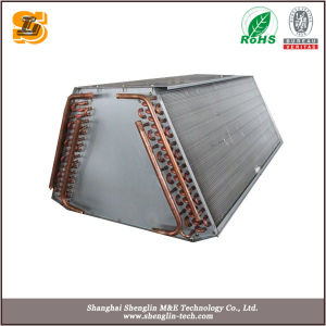 Condensatore usato condizionatore d'aria di alluminio dell'aletta del tubo di rame