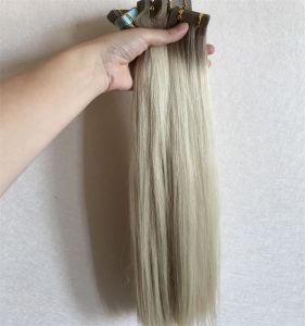 Main liée vierge 100 % de cheveux humains Piano Bande européenne dans les cheveux de l'extension