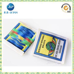 Comercio al por mayor de prendas de vestir de colores personalizada etiqueta tejida de alta densidad (JP-CL104)