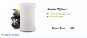 Humidificador de aire de plástico de ultrasonidos Difuser difusor de aroma de cambio de color