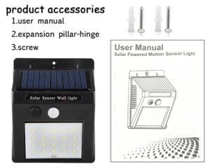 動力を与えられた太陽電池パネルLEDの屋外の太陽センサーの壁ライトを防水しなさい