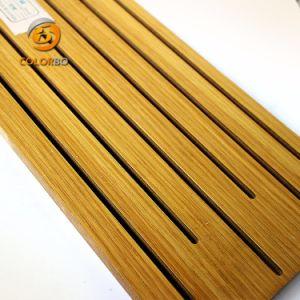 Utilizzato in Ballroom/KTV mura il comitato acustico del legname di legno della scanalatura di assorbimento acustico