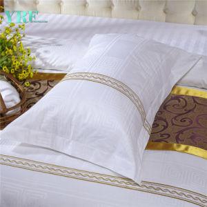 Yrf 100 % de la broderie oreiller en coton blanc du couvercle du carter