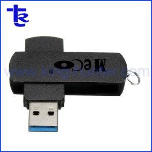 レーザーのロゴの金属のより手のPendriveの旋回装置USBのフラッシュ駆動機構