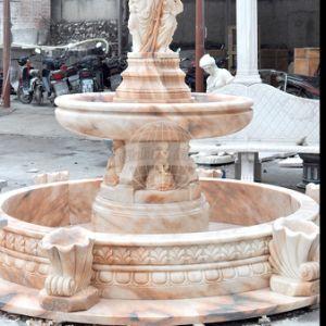 De rode Marmeren Snijdende Fontein van het Standbeeld van de Steen (gsf-118)
