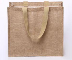 e55ed73f5 Reciclado personalizado de alta calidad de cáñamo, Tote bolsas de yute saco  de arpillera