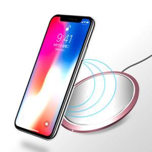 10W Ultra delgado Slim Fast Pad de carga inalámbrica móvil Wireless Cargador para Samsung Galaxy S9/S9 Plus/S8/S8 Plus/S7/S7 Edge/Nota8 7.5W para el iPhone X/8/8 P