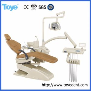 Marcação CE e ISO aprovado cadeira odontológica coloridos de luxo com LED da unidade da lâmpada do sensor de luz