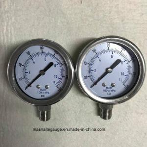 Oferta de fábrica 4 polegada e 1/4ligação PT Glicerina Manómetro