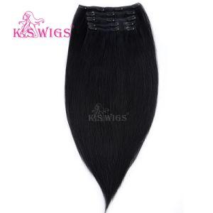 Cheveux humains Remy Hair Clip brésilien vierge dans l'extension de cheveux