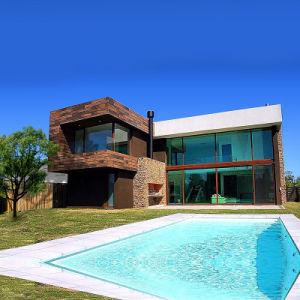 Prefab luxuosas casas de aço pré-fabricadas Smart House Villa