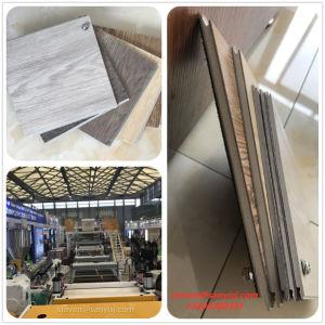 O SPC PVC plástico pisos de vinil para WPC Lvt pranchas de folha de lado a produção de placa de linha de extrusão máquina de fazer