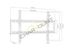 32  - 70 를 위한 텔레비젼 마운트를 미끄러지기, 공장 공급 스테인리스 텔레비젼 마운트 (CT-PLB-E3003AN)