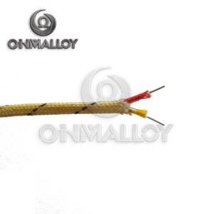 Tipo standard cavo dell'AWG 24 0.511mm dell'ANSI della compensazione della termocoppia del K con l'isolamento della vetroresina