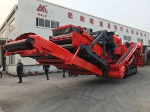 Effetto mobile del cingolo che schiaccia ed impianto di frantumazione per il riciclaggio del materiale da costruzione
