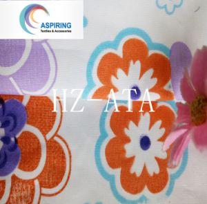 Olyesterプリント花の繭紬ファブリック
