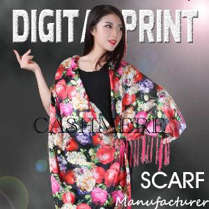 As mulheres elegantes Cachecol Imprimir Cashmere Fabric (YC179)