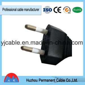 Tipo europeo de 2 polos equipo cable de alimentación (aprobado por VDE) con RoHS en alta calidad a bajo precio