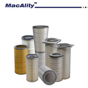 Cartouche de filtre en fibre de polyester antistatique / imperméable et Anti-Oil cartouche de filtre à air de dépoussiérage / couvercle carré de la cartouche de filtre à air
