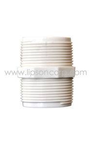 PVC de alta calidad doble boquilla roscada accesorios de tubería de PVC