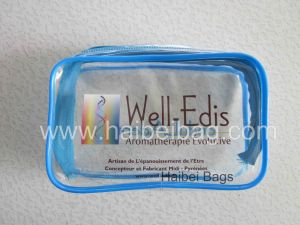 De douane Afgedrukte Kosmetische Zak van pvc (hbpv-12)
