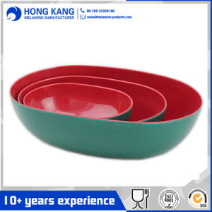 2pcs Tazón rojo de melamina conjunto
