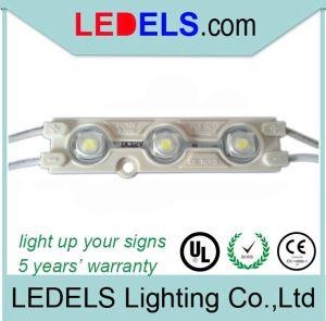12V 0.72W de alta Lumen amplio ángulo de visión 2835 Módulo LED de inyección/módulo LED con impermeable lente