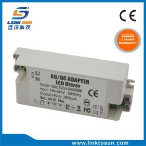 alimentazione elettrica di CC 24V 2A dell'alimentazione elettrica di 48W LED