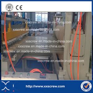 Feuille d'onde de l'extrudeuse clairement en PVC