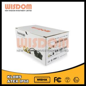 高性能知恵Kl8msの安全によって束ねられるヘッドライト、LED鉱山の帽子ランプ
