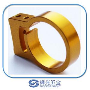 전문가는 주문을 받아서 만들었다 황금 양극 처리한 알루미늄 Al6061-T6 CNC에 의하여 기계로 가공된 잠그개 (F-245)를