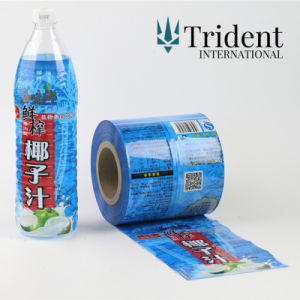 Imprimé en PVC/PET/OPS/POF manchons thermorétractables de film/étiquette de bouteille thermorétractable Cup
