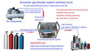 Het Vullen van het Brandblusapparaat van Co2 van de Hoge druk van Suncenter Compacte Pomp