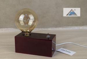 De vierkante Houten Lamp van de Lijst van het Vakje Decoratieve Lichte Uitstekende