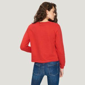 100%Cotton 여자의 주문 로고를 가진 긴 소매 상단