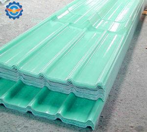 Feuille de toit ondulé en fibre de verre transparent, FRP tôle de toit