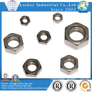 En acier inoxydable 316 mince de l'écrou hexagonal