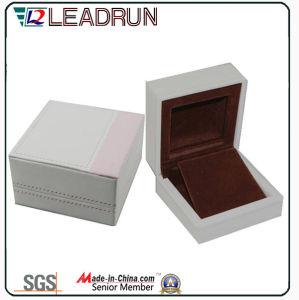 Contenitore di regalo di cuoio dell'imballaggio del gemello del braccialetto del presente del ricordo della casella di memoria dei monili del velluto (YSP133)