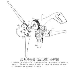 generatore di turbina del vento di energia rinnovabile di iso del Ce 200W piccolo