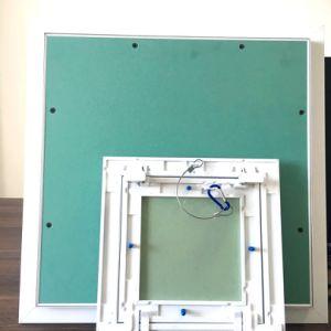 Panneau d'accès de sécurité avec serrure à clé et revêtement en poudre